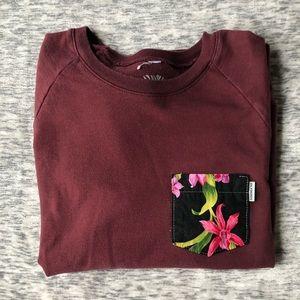 Tops - Serengetee Maroon Pocket Sweatshirt